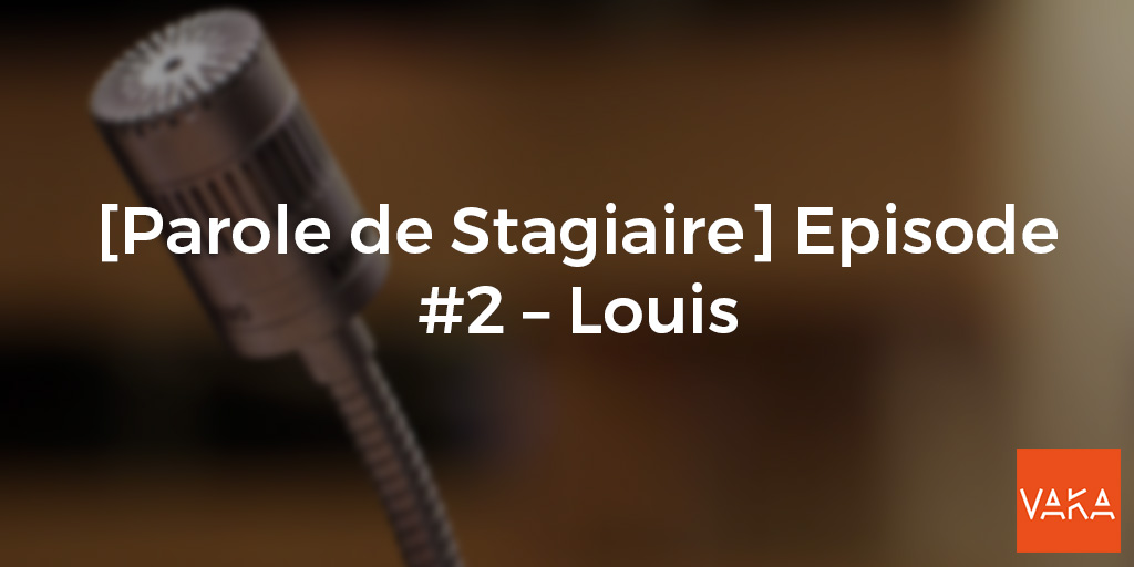 [Parole de Stagiaire] Episode #2 – Louis