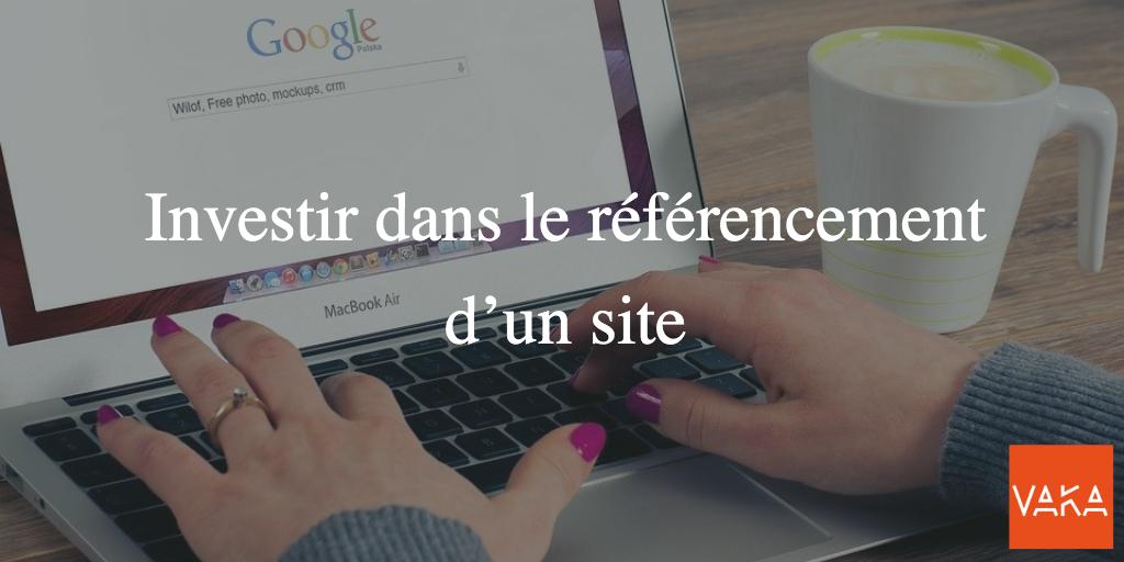 Investir dans le référencement d'un site